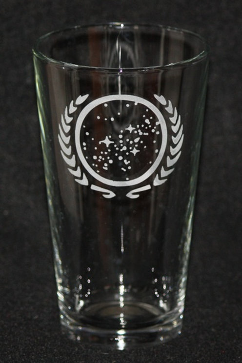 Star Trek United Federation of Planets Pint Glass