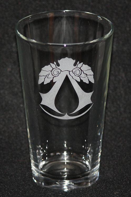 Assassin's Creed Brotherhood Symbol Pint Glass
