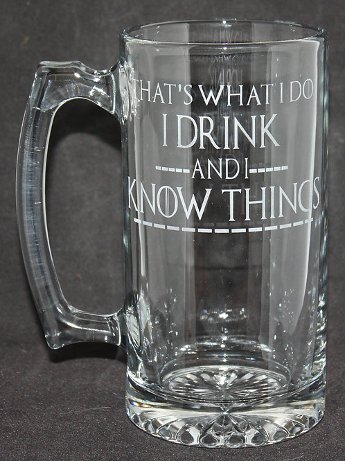 Game of Thrones I Drink & I Know Things Glass Mug