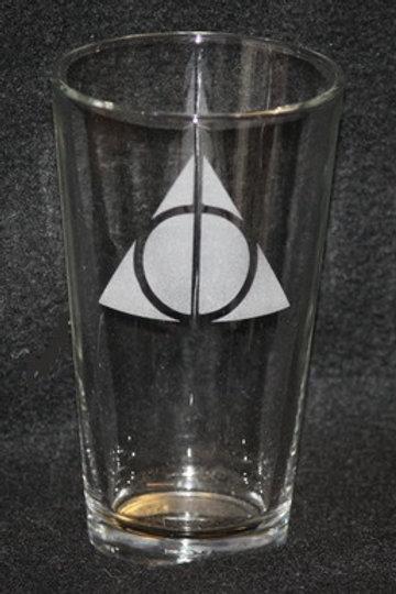 Harry Potter Deathly Hallows Symbol Pint Glass