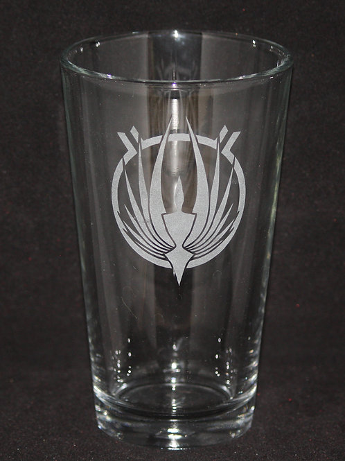 Battlestar Galactica Symbol Pint Glass