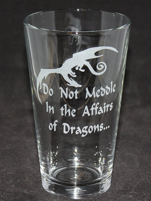 Lord of the Rings Affairs of Dragon Pint Glass