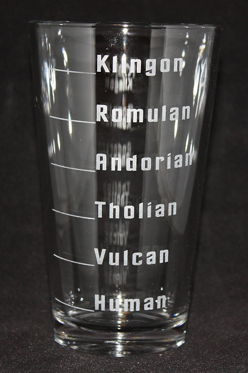 Star Trek Alien Levels Pint Glass