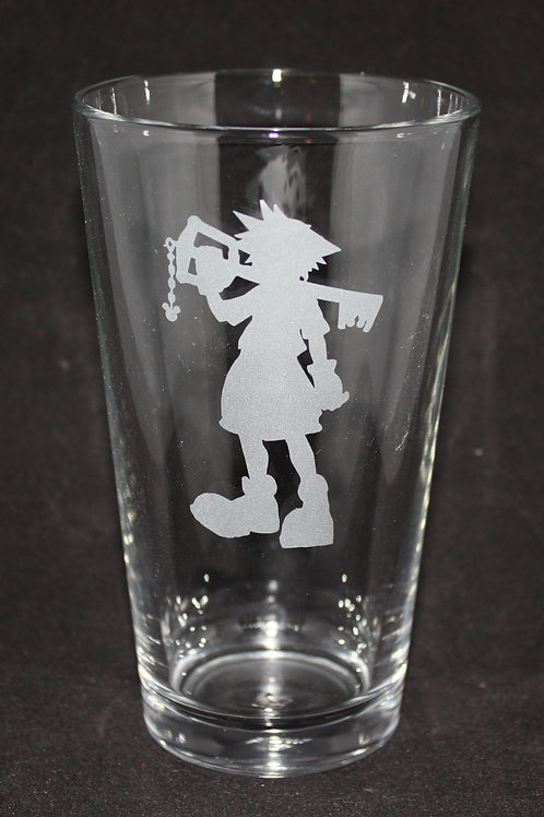 Kingdom Hearts Sora Keyblade Silhouette Pint Glass