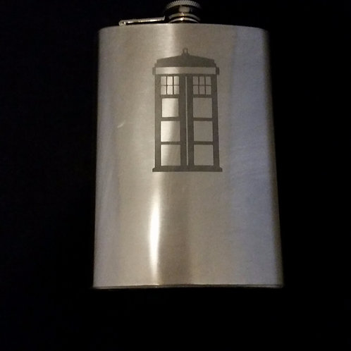 Doctor Who Tardis Metal Flask