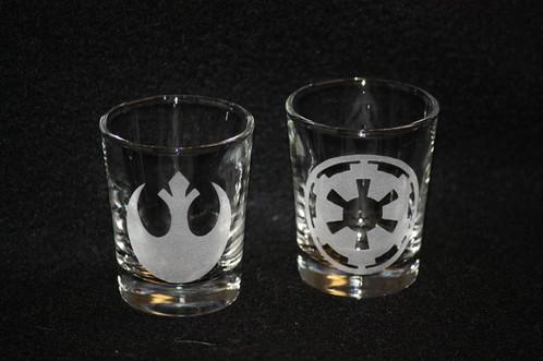 Star Wars Rebel And Empire Shot Glass Set