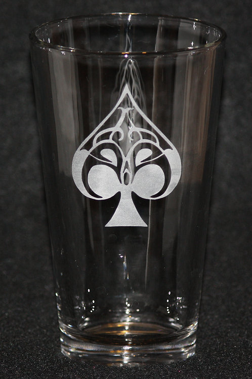 Ace of Spades Pint Glass