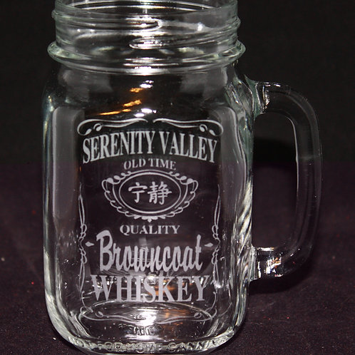 Browncoat Whiskey Mason Jar Mug