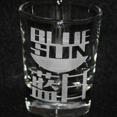 Firefly Serenity Blue Sun Logo Shot Glass