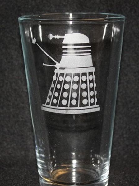 Doctor Who Dalek Pint Glass