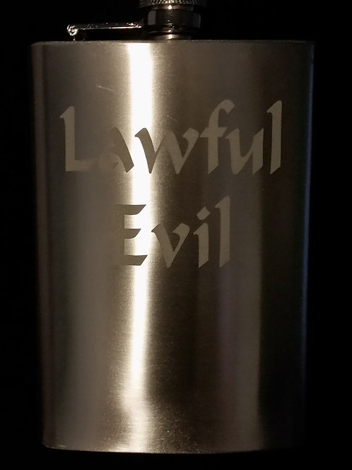 Lawful Evil Metal Flask