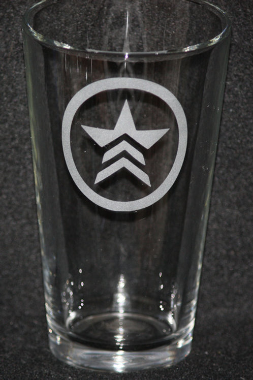 Mass Effect Renegade Symbol Pint Glass