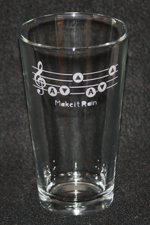 Legend of Zelda Song of Storms Pint Glass