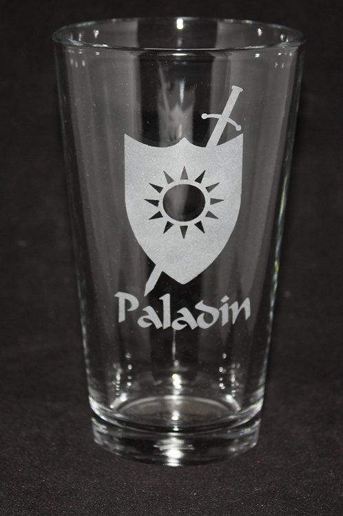 Paladin Character Pint Glass