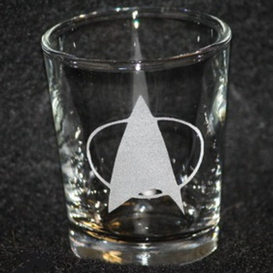 Star Trek Star Fleet TNG Symbol Shot Glass