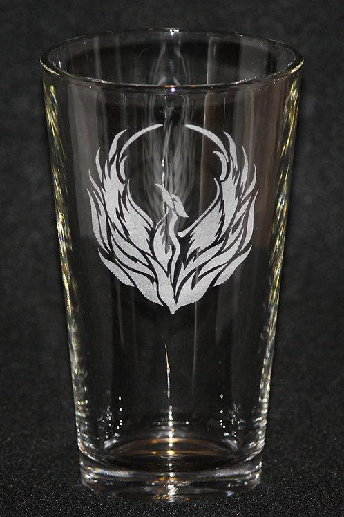 Phoenix Firebird Pint Glass
