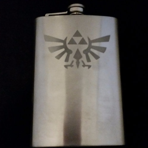 Legend of Zelda Triforce Metal Flask