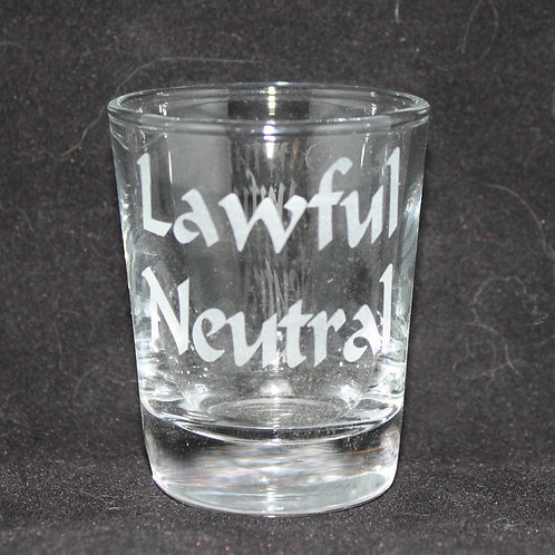 Lawful Neutral Shot Glass