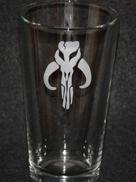 Star Wars Mandalorian Boba Fett Pint Glass