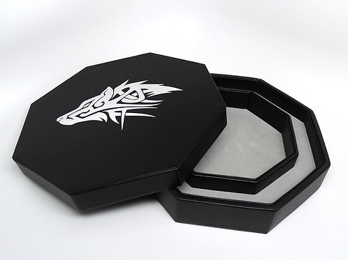 Tribal Wolf Covered Dice Tray
