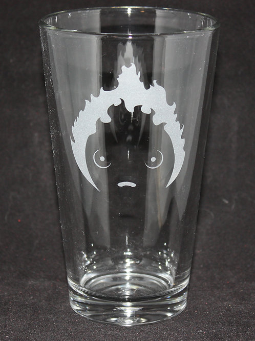 Calcifer Pint Glass