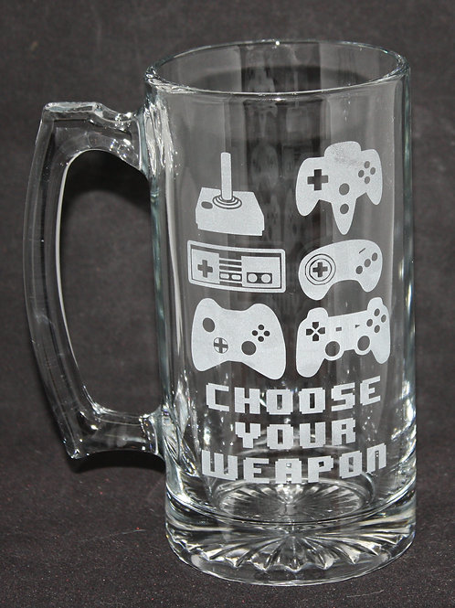 Choose Your Weapon Video Controller Glass Mug