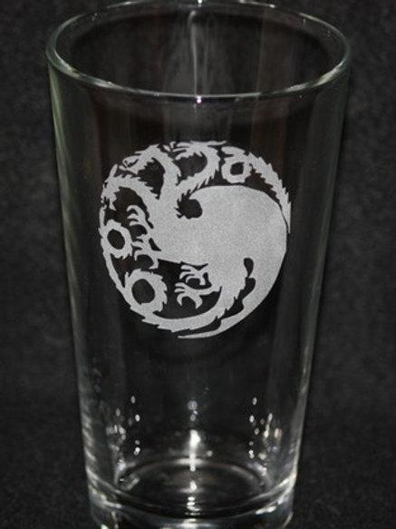 Game of Thrones House Targaryen Pint Glass