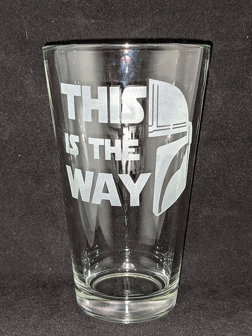 Star Wars Mandalorian Code Pint Glass