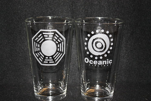 Lost Dharma Initiative & Oceanic Airlines Pint Set