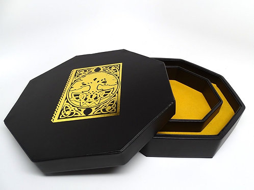 Spellbook Covered Dice Tray