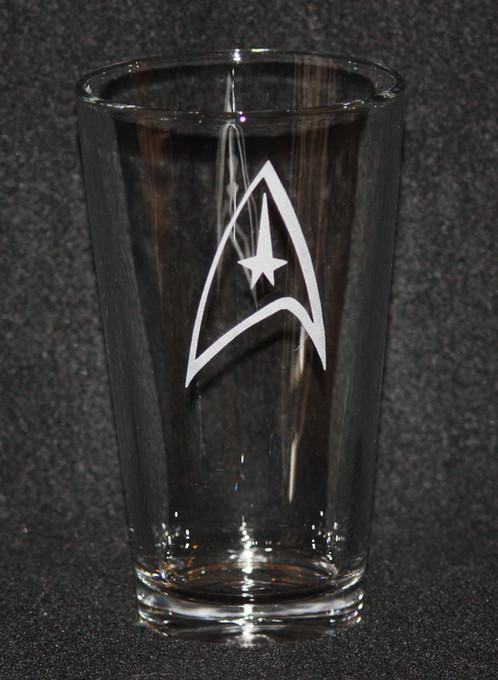 Star Trek Command Symbol Pint Glass