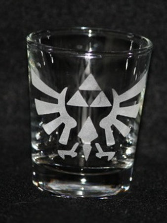 Legend of Zelda Triforce Hyrulian Crest Shot Glass