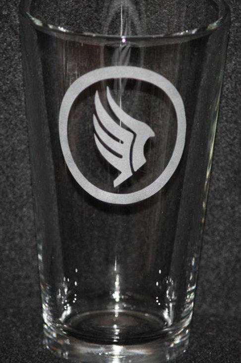 Mass Effect Paragon Symbol Pint Glass