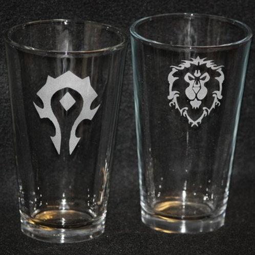 World of Warcraft WOW Alliance & Horde Pint Set