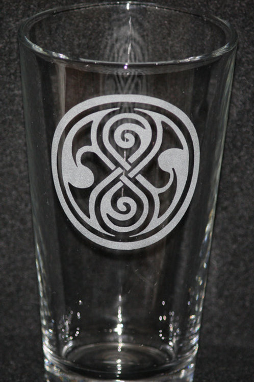 Doctor Who Time Lord Pint Glass