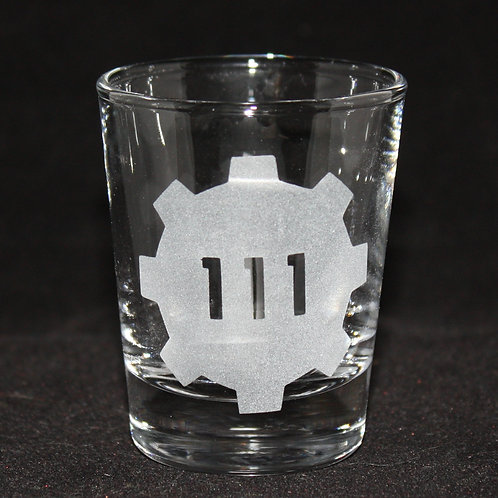 Fallout Vault 111 Symbol Shot Glass