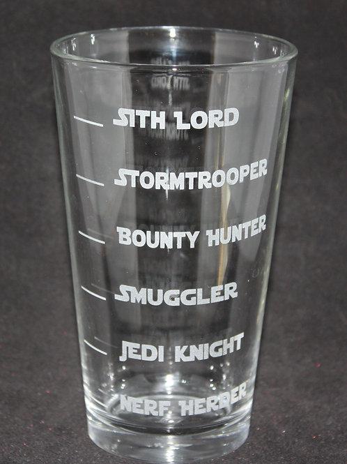 Star Wars Levels Pint Glass