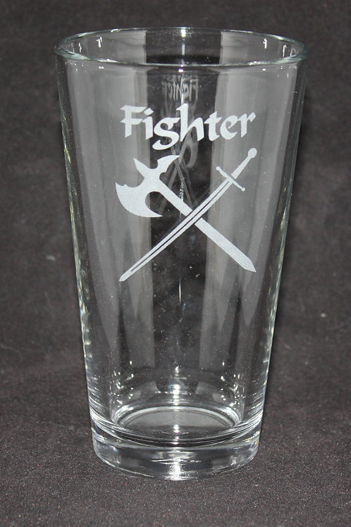 Fighter Character Pint Glass
