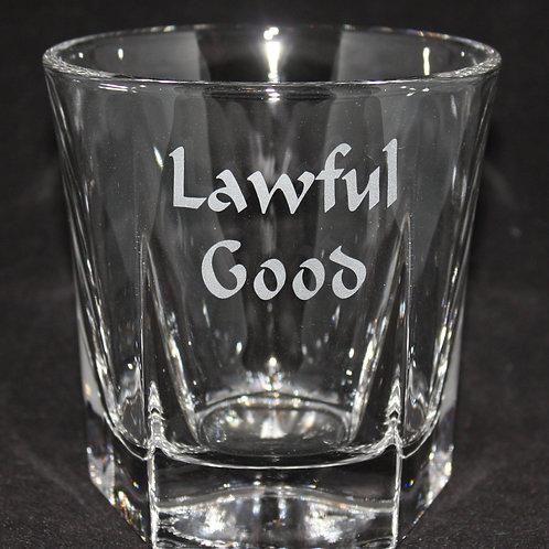 Lawful Good Rocks/Whiskey Glass