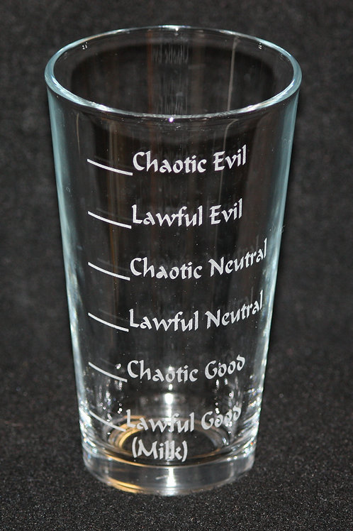 D & D Dungeons & Dragons Alignments Pint Glass