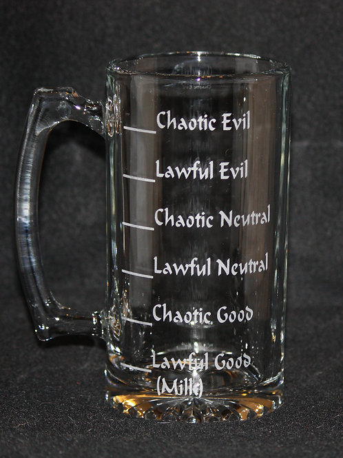 D & D Dungeons & Dragons Alignments Mug