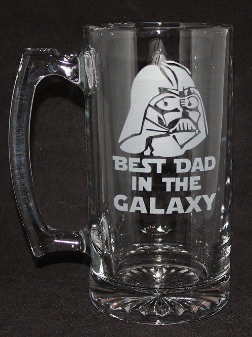 Best Dad Darth Vader Glass Mug