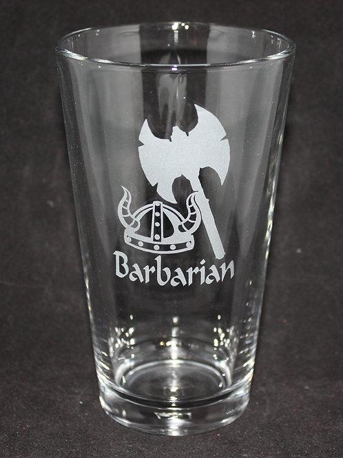 Barbarian Character Pint Glass