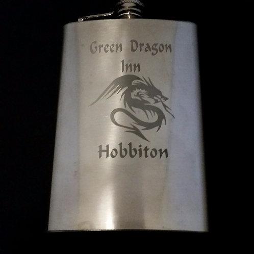 Lord of the Rings Green Dragon Inn Metal Flask