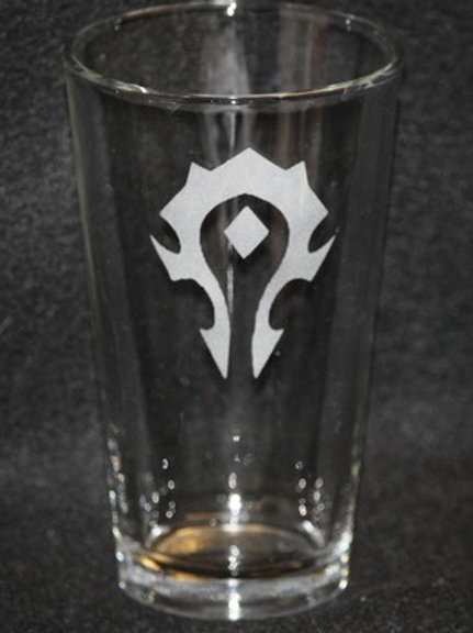 World of Warcraft WOW Horde Symbol Pint Glass