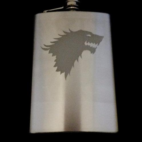 Game of Thrones House Stark Metal Flask