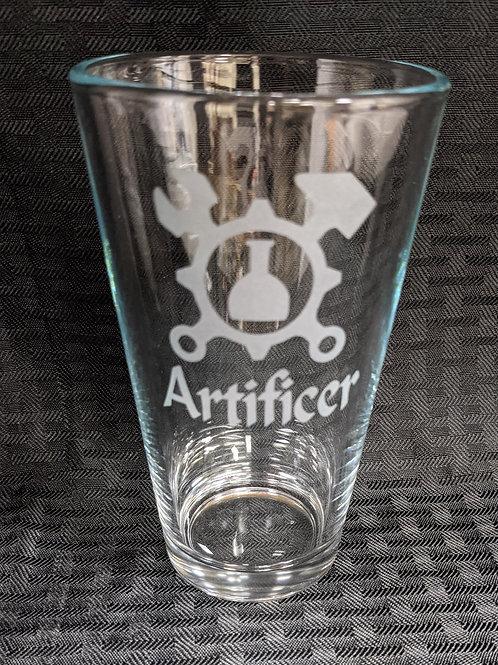 Artificer Character Pint Glass