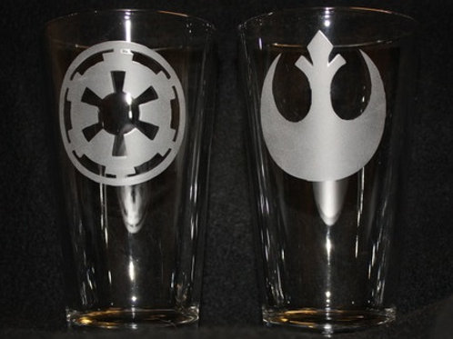 Star Wars Empire & Rebel Pint Glass Set