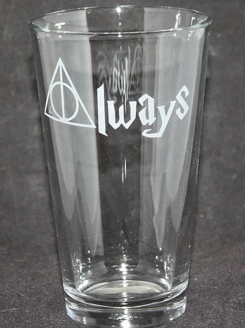 Harry Potter Always Pint Glass