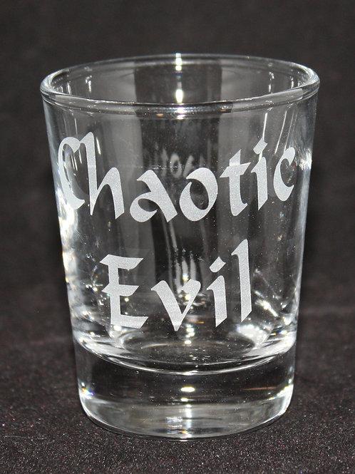 Chaotic Evil Shot Glass